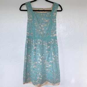 Chelsea & Violet Lace Dress with Sheer Slip